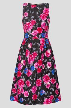 Kvetované, žakárové šaty - Čierna Elegant, Floral, Clothing, Classy, Outfits, Flowers, Outfit Posts, Flower, Kleding
