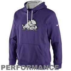 Nike TCU Horned Frogs KO Performance Hoodie - Purple -