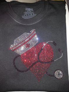 Beautiful NURSE Rhinestone HOODiE MEGA BLiNG by WickedStitching Beautiful Nurse, Nurse Stuff, Be Kind To Yourself, Nurse Gifts, Embroidery Patterns, Nursing, Rhinestones, Cross Stitch, Hearts