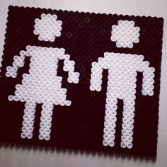 Toilet sign perler beads / Beadpoint pattern by emeliemariabackman