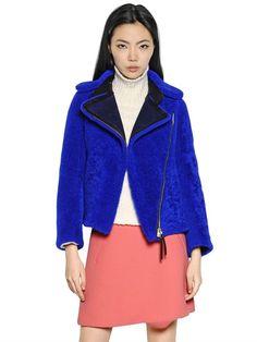 Marni Shearling Fur Moto Jacket   Coat, Jacket and Clothing
