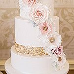 Sequins and flowers cake by Cotton and Crumbs