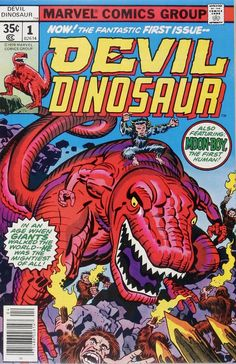 Devil Dinosaur & Moon-Boy #1 Cover by Jack Kirby
