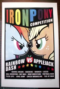 My Little Pony Iron Pony Poster Handpulled by stacyswirl on Etsy, $16.00 *GASP