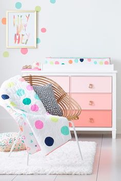 Are you getting ready to welcome your new arrival into your home? Do you  need gorgeous design inspiration for your nursery? Then take a look at this  post, with delightful bright nursery decor ideas that will inspire you to  go bold. If you have been thinking - 'How much colour should I put in the  nursery?' or 'Will it be too bright?'  Don't worry, a neutral background  can be so versatile, while added colours can enhance the decor, while also  creating a brilliant nursery space.