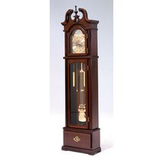 Grandfather Clock W Quartz Movement Cherry- Bernards, Inc.