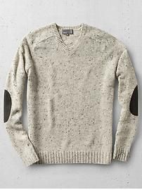 Vince Tweeded V-Neck Sweater