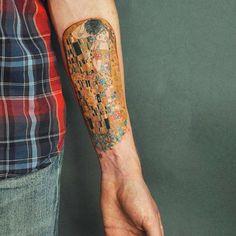 The Kiss, Gustav Klimt tattoo by Rita