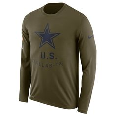 Dallas Cowboys Nike Sideline Coaches UV Long Sleeve Performance T Shirt White