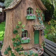 16 DIY Cute Fairy Garden and Fairy Garden Furniture Saying You Wow . - 16 DIY Cute Fairy Garden and Fairy Garden furniture that you say, wow - Fairy Tree Houses, Fairy Garden Houses, Gnome Tree Stump House, Gnome House, Fairies Garden, Fairy Doors On Trees, Fairy Gardening, Gardening Quotes, Garden Cottage
