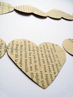 Paper hearts bunting banner Valentine decor by OKIFOLKI on Etsy - can sew this