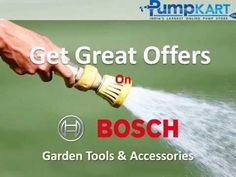 Buy Bosch water pumps online and see how to install