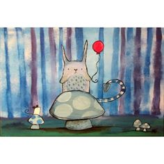 Marmont Hill - 'One Red Balloon' by Andrea Doss Painting Print on Wrapped Canvas