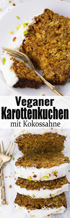 Veganer Karottenkuchen Vegan carrot cake is one of my favorite cake recipes! Super yummy, juicy and perfect for spring! Vegan baking can be so easy! More vegan cake recipes and more general vegan recipes veganheaven. via veganheaven. Healthy Vegan Desserts, Vegan Dessert Recipes, Vegan Treats, Easy Cake Recipes, Delicious Vegan Recipes, Vegan Foods, Vegan Dishes, Dairy Free Recipes, Easy Desserts