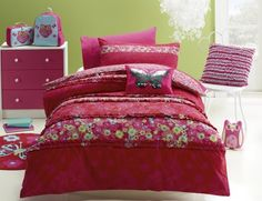 Jiggle /& Giggle Kids Girls Peacock Princess Doona Quilt Cover Set Single Doub...
