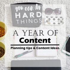 Content Planning, blog content, blogger content, content planning for bloggers, a year of blogging, blog plans for a year, blog content for a year, a year of content for your social media, social media planner, blog planner,