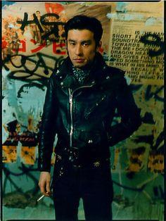 チバ ユウスケ Men's Leather Jacket, Men's Wardrobe, Japan Fashion, Leather Fashion, Cold Weather, Chill, Rocks, Elephant, Bomber Jacket