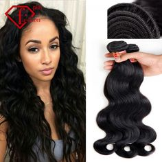 Brazilian body wave 3pcs a lot Queen hair products virgin hair,unprocessed 100% human hair unprocessed free shipping Grade 5A - $39