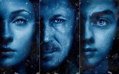 Descargar fondos de pantalla Juego De Tronos Temporada 7, cartel de 2017, películas, Petyr Baelish, Arya Stark, Sansa Stark, Juego De Tronos