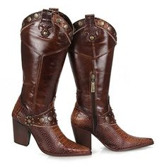 Bota Country Tucson P445 - Castanho Moda Online, Tucson, Cowboy Boots, Riding Boots, Heeled Boots, Heels, Fashion, Shoes, Outfit Summer