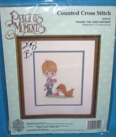 """Precious Moments Praise The Lord Anyhow Counted Cross Stitch Kit 8""""x10"""" New #PreciousMoments"""