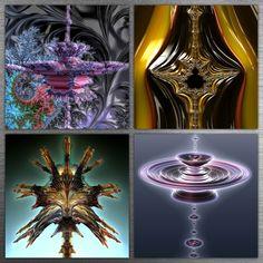 Artwork by Dominic Rochon, Fractal Art, Fractals, Color Tattoo, Psychedelic, Abstract Art, Bulb, Extensions, Artwork, Digital Art