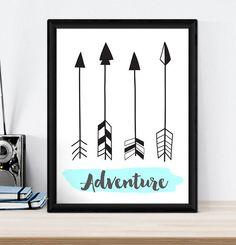 A4 Nursery Bedroom Wall Art Print-Baby Kids Boys Girls - Tribal Arrows