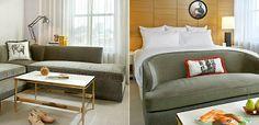 Sofa at foot of bed