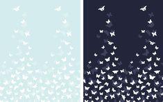 Modrá látka s motýlky by mohla být skvělou volbou na léto. Líbila by se Vám tota látka na letní šaty?
