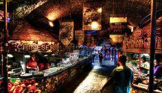 Camden Market food stalls