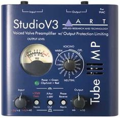 ART Tube MP Studio V3: Record any source through this versatile tube preamp! The super-compact ART Tube MP Studio V3 gives you a huge variety of voicings, output limiting and more.