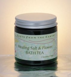 Healing Salt & Flower Bath Tea Sink into the splendor of nature's simplest and most gorgeous revelations. Natural cleansers create a luxurious, healing and replenishing bath. Mineral Bath, Bath Tea, Bath Salts, Eye Cream, Minerals, Herbalism, Skin Care, Earth, Gifts