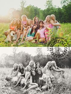 Styled senior session!! Awesome group of senior girls www.linabellphotos.com…