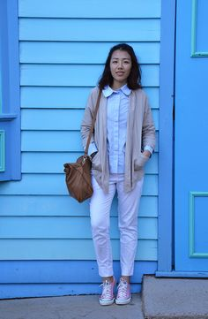 64ab66b0c11ce9 Cardigan  Temt  Blouse  COS  Bag  Zara  Pants  H M  Shoes  Converse day in  Gold Coast