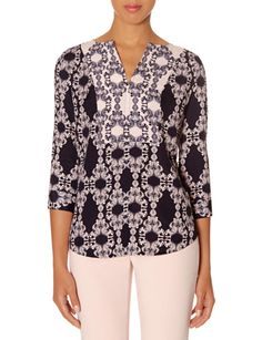 Scroll Print Blouse from THELIMITED.com
