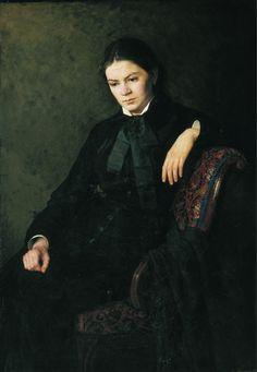 Yaroshenko Nikolai: Портрет неизвестной. 1881