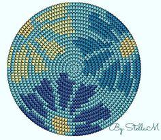 Best 12 Mandalas en mostacillas – Page 531143349802211677 – SkillOfKing.Com - New Ideas Crochet Bedspread Pattern, Tapestry Crochet Patterns, Crochet Dolls Free Patterns, Crochet Stitches Patterns, Cross Stitch Patterns, Bead Crochet, Crochet Motif, Diy Crochet, Crochet Handbags