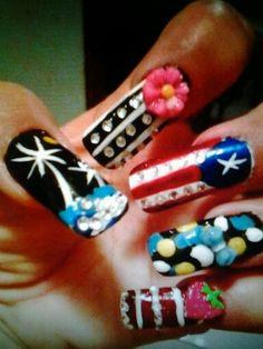 My Nails. Disenos hechos por mi.