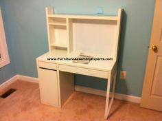 ikea micke workstation desk assembled in annapolis MD for a customer kid`s room by Furniture Assembly Experts LLC