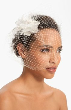 Nina 'Maize' Birdcage Veil available at #Nordstrom #Nordstromweddings Will look great on short haired brides ;)