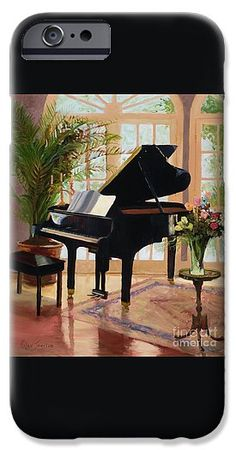 Grand Piano In Pretty Room IPhone 6s Case featuring the painting Grand View By Marilyn Nolan- Johnson by Marilyn Nolan-Johnson