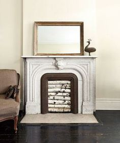 An easy guide to creating a DIY birch still life in your fireplace.