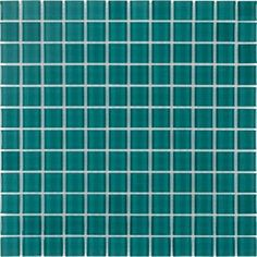 Elida Ceramica Azure Glass Mosaic Square Indoor/Outdoor Wall Tile (Common: 12-in x 12-in; Actual: 11.75-in x 11.75-in)