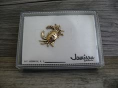 Vintage Crab Tie Tack Gold Tone Great for Purse Scarf Accessory by Jamisau R.I.  #Jamisau