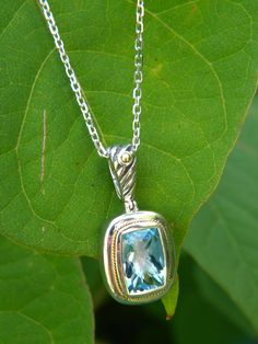 Blue Topaz pendant by Phillip Gavriel. Available at Diana Jewelers of Liverpool NY