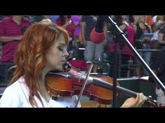 Lindsey Stirling performing the National Anthem of the United States - YouTube. Makes me cry every time!