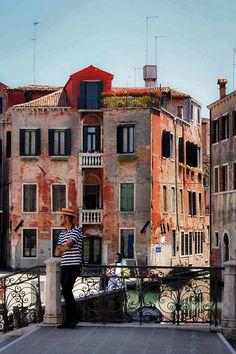Gondoliere of Venice, Italy