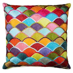 Stylist's Tip: Chic design is all in the details, and the right accents can transform the look of any room. This handmade pillow is as an easy (and eco-frien...