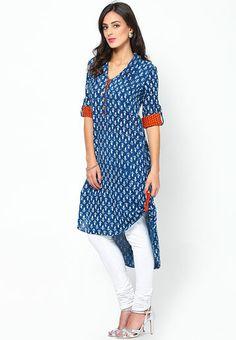 Desi Weaves Cotton Blue Kurta - Buy Women Kurtas & Kurtis Online | DE806WA58MJPINDFAS