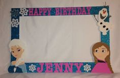 photo frame party prop frozen Anna elsa and by titaspartycreations:
